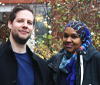 PhD students Nimmo Elmi and Johan Niskanen at Technology and Social Change