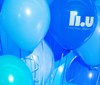Balloons in LiU's colors.