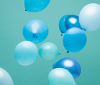 Balloons in LiU colors.