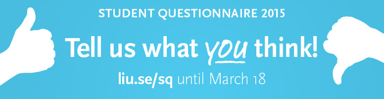 Student questionnaire 2015. Tell us what you think!