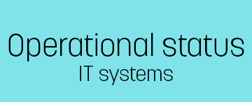 Operational status for IT systems.