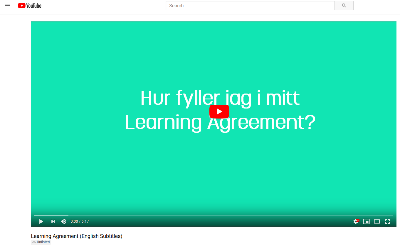 Learning Agreement film