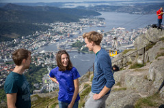 Students on top of Mount Ulriken